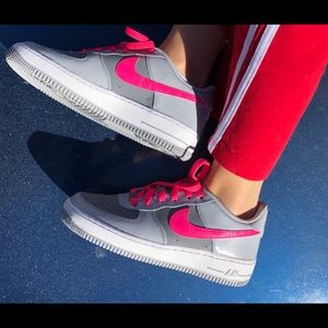 NIKE AF1 Grey and Hot Pink NEW!  Air Force Ones